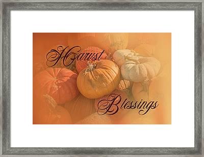 Harvest Blessings I Framed Print by Ramona Murdock