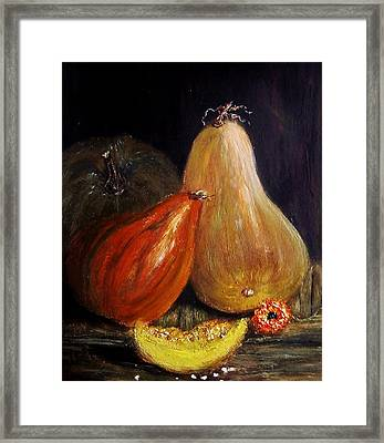 Framed Print featuring the painting Harvest... by Cristina Mihailescu