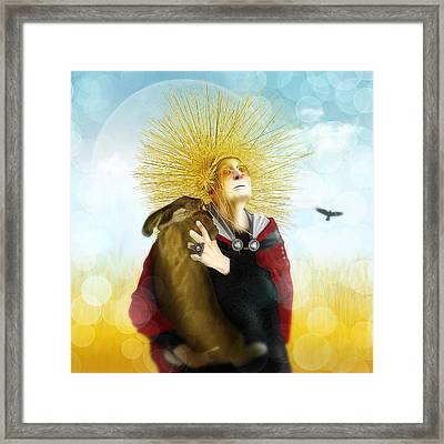 Harvest Crone Framed Print by Penny Collins