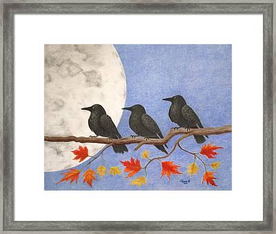 Harvest Crows Framed Print by Alyssa Glosson