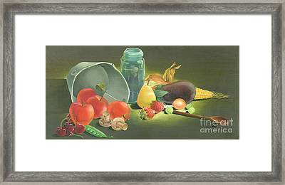 Harvest Fruit 2 Framed Print by Doreta Y Boyd