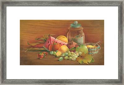 Framed Print featuring the painting Harvest Fruit by Doreta Y Boyd