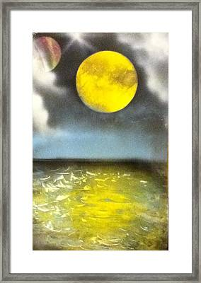 Harvest Moon Framed Print by Angel Griffin