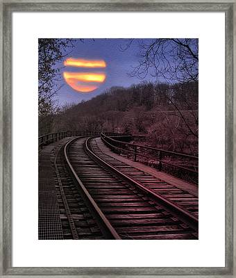 Harvest Moon Framed Print by Bill Cannon