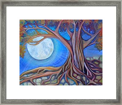 Harvest Moon Framed Print by Cedar Lee