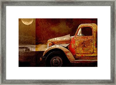 Framed Print featuring the photograph Harvest Moon by Holly Kempe
