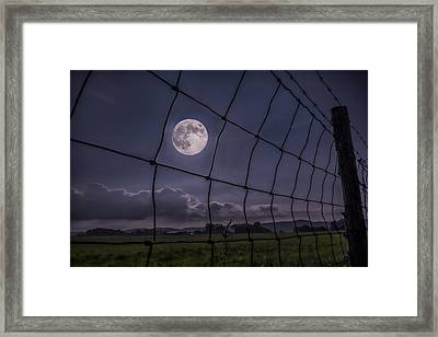 Framed Print featuring the photograph Harvest Moon by Jaki Miller