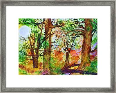 Harvest Moon  Framed Print by Janet Immordino