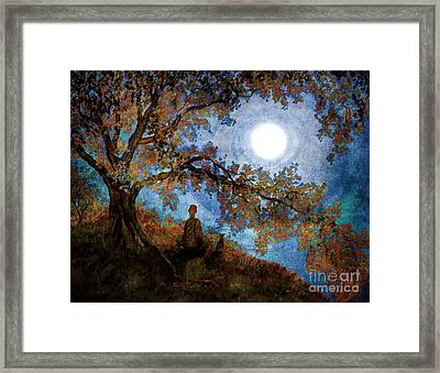 Harvest Moon Meditation Framed Print by Laura Iverson