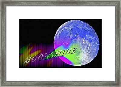 Harvest Moon - Moonshine Framed Print by Steve Ohlsen