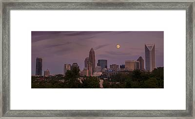 Harvest Moon Over Charlotte Framed Print by Serge Skiba