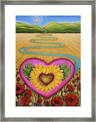 Harvest Of Hope Framed Print by Claire Johnson