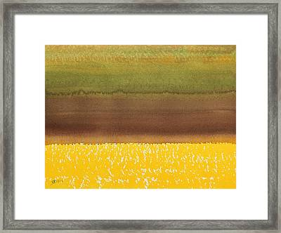 Harvest Original Painting Framed Print