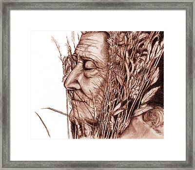 Framed Print featuring the drawing Harvest by Penny Collins