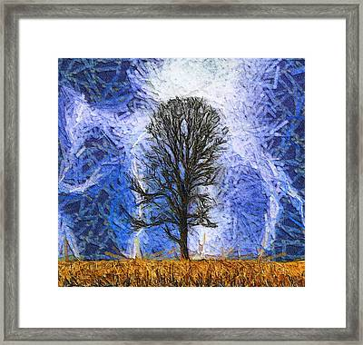 Harvest Storm Framed Print by Dan Sproul