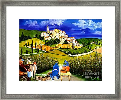 Harvest The Grapes Framed Print