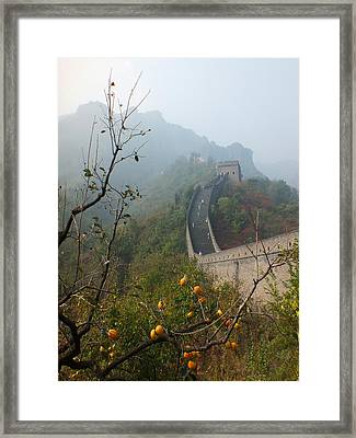 Harvest Time At The Great Wall Of China Framed Print