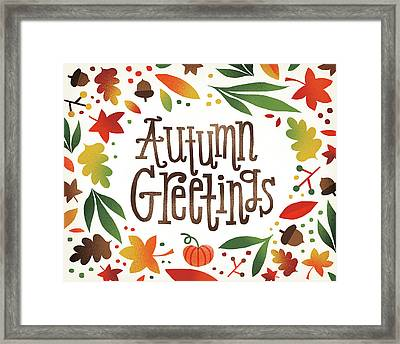 Harvest Time Autumn Greetings Framed Print by Michael Mullan