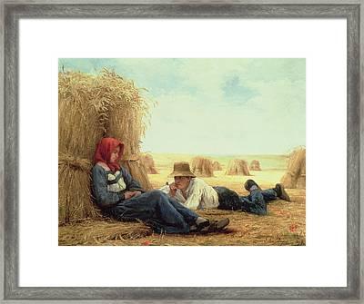 Harvest Time Framed Print by Julien Dupre