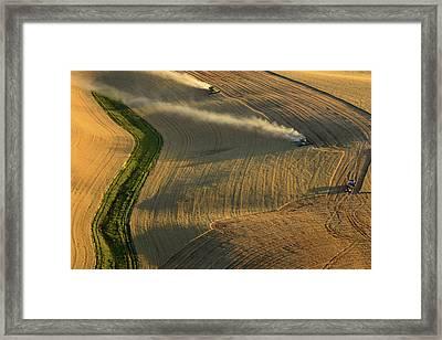 Harvest Time Framed Print by Latah Trail Foundation