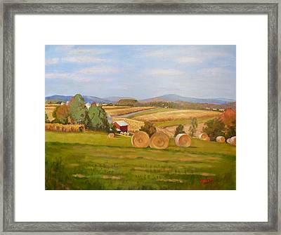 Harvest Time On Berger Hill Framed Print
