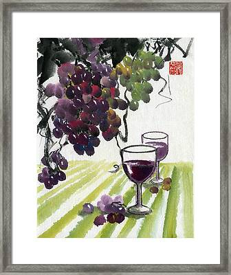Harvest Time Framed Print by Ping Yan