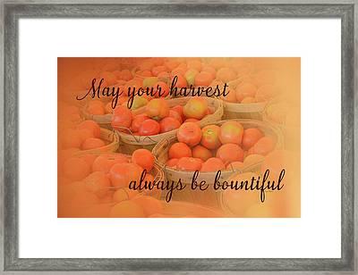 Harvest Wish Framed Print by Ramona Murdock