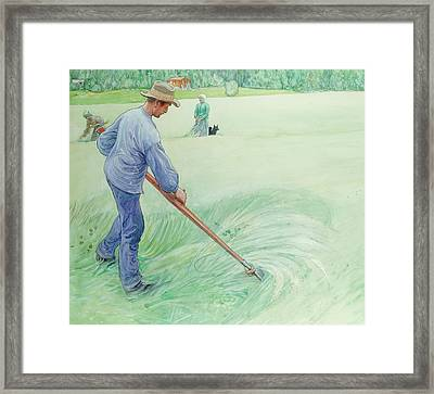 Harvesters Framed Print by Carl Larsson
