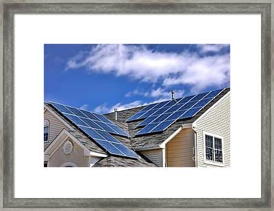 Harvesting The Sun Framed Print