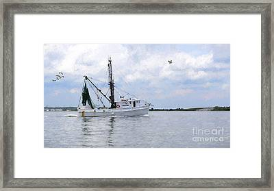 Harvesting The Waters Framed Print