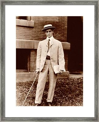 Harvey Cushing Framed Print by National Library Of Medicine