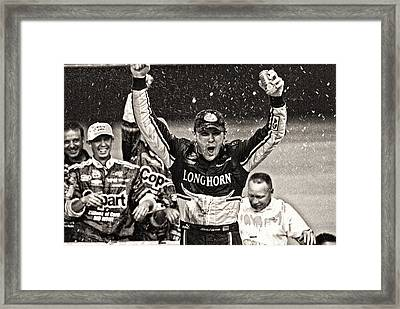 Harvick Trucks Framed Print by Kevin Cable