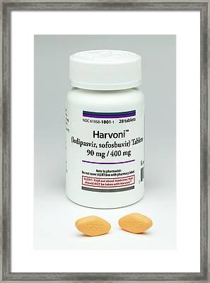Harvoni Hepatitis C Drug Framed Print