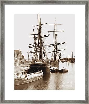 Harwich Docks England Framed Print