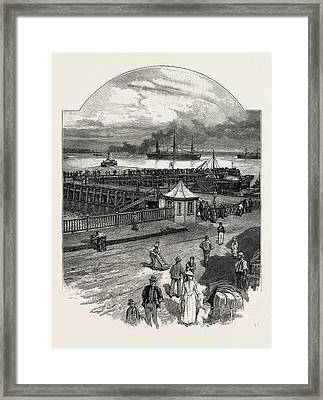 Harwich The Quay, Uk. A Town In Essex, England And One Framed Print