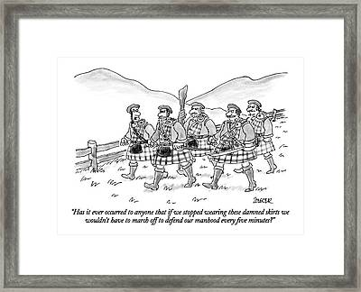Has It Ever Occurred To Anyone That If We Stopped Framed Print by Jack Ziegler