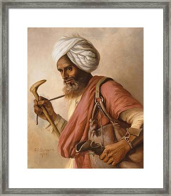 Hasan, Water Carrier To The Artist Framed Print