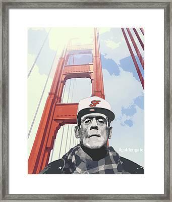 Hashtag Goldengate Frankie's Selfie Framed Print by Filippo B
