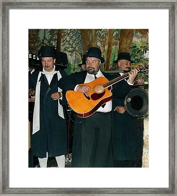Hasidic Jews In Crakow Poland Framed Print by Bill Marder