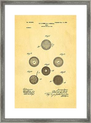 Haskell Wound Golf Ball Patent 1899 Framed Print