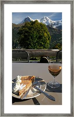 Hasli-chochen Pastry And Rose Wine Framed Print by Panoramic Images