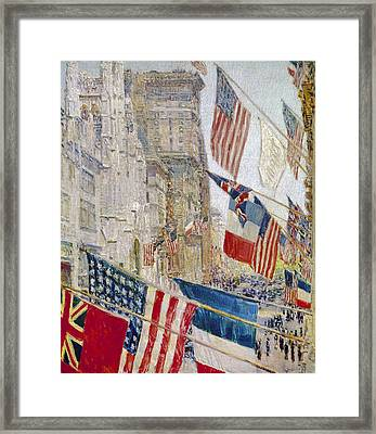 Hassam: Allies Day, May 1917 Framed Print by Granger
