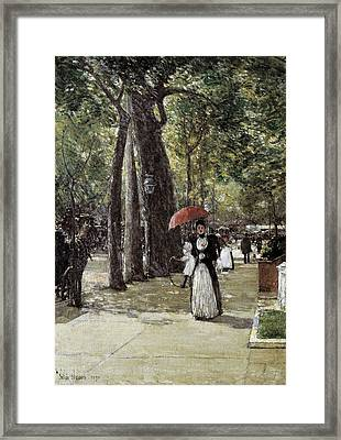 Hassam, Childe 1859-1935. Fifth Avenue Framed Print by Everett