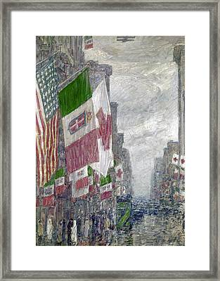 Hassam: Italian Day, 1918 Framed Print by Granger