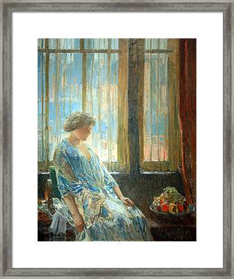 Hassam's The New York Window Framed Print by Cora Wandel