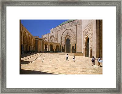 Hassan II Mosque Grand Mosque Sour Jdid Casablanca Morocco Framed Print