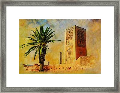 Hassan Tower Framed Print by Catf