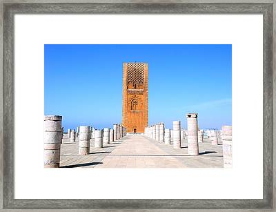 Hassan Tower Rabat Framed Print by Apurva Madia