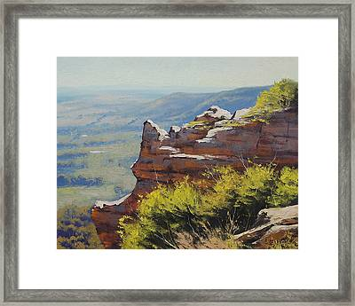 Hasson Wall Lithgow Framed Print by Graham Gercken