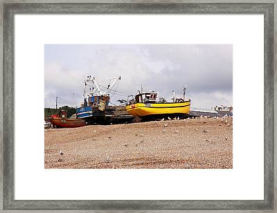 Hastings Fishing Boats Framed Print